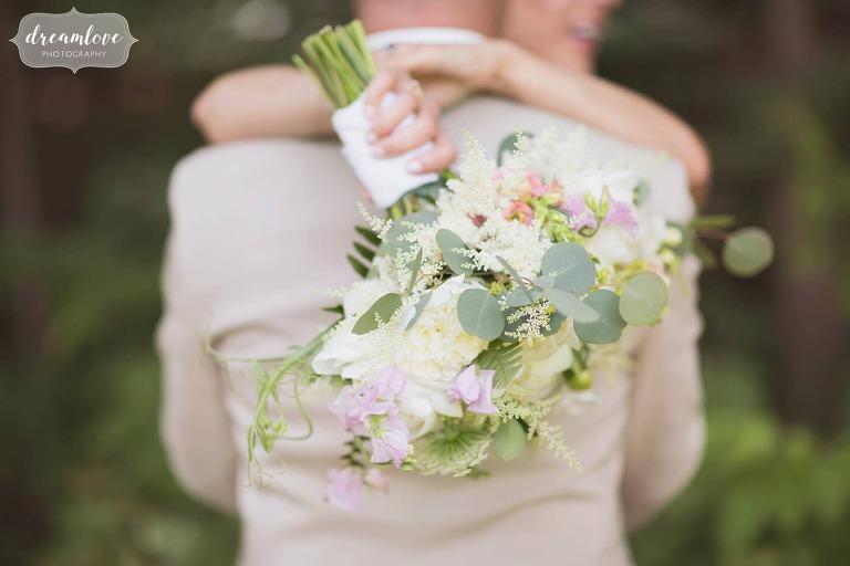 Woodland wedding bridal bouquet by Tarrnation at Bishop Farm.