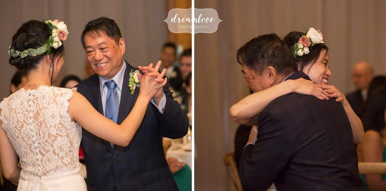 Father daughter dance at Hudson Valley barn wedding.