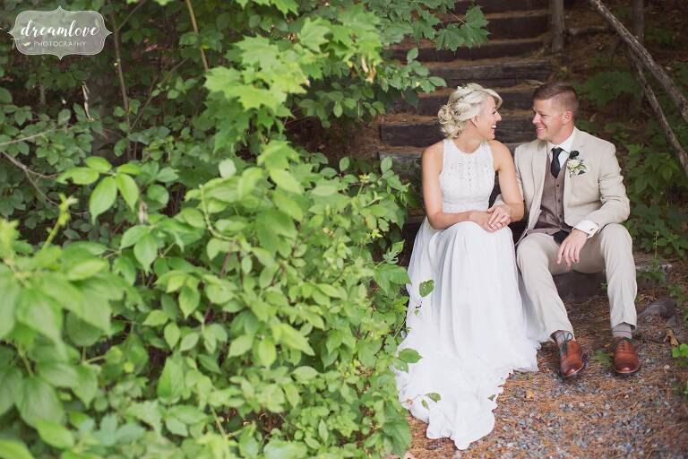 Boho wedding at Bishop Farm barn in NH.