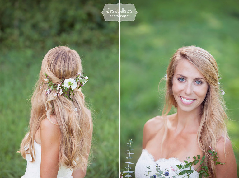 Ethereal portraits of the bride at the 1824 House in VT.