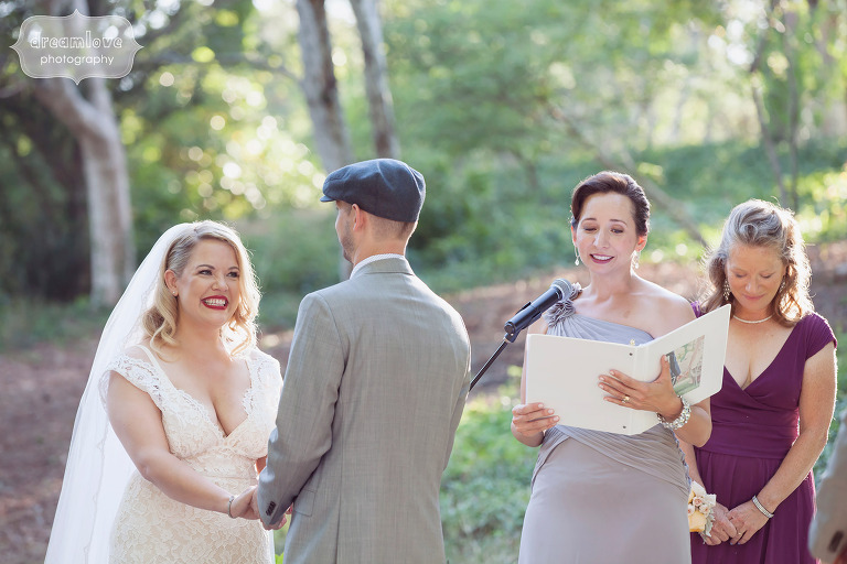 Candid wedding photo at the Overbrook House on Cape Cod, MA.
