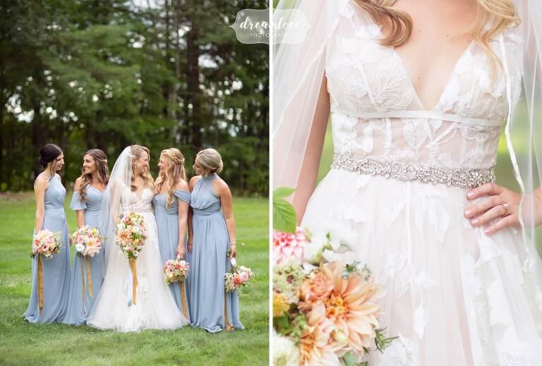 BHLDN Hearst gown details at Bishop Farm.