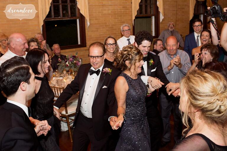 Jewish wedding traditions at the Linden Place mansion.