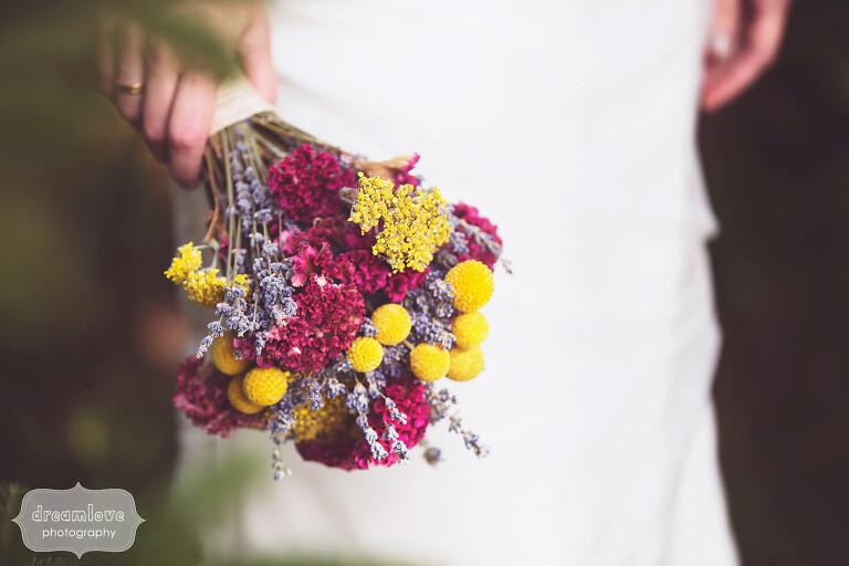 Mountain wedding in western MA bouquet.