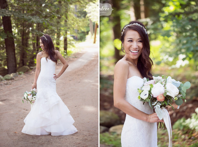 Happy and fresh wedding photos of this Korean bride in Wolfeboro, NH.