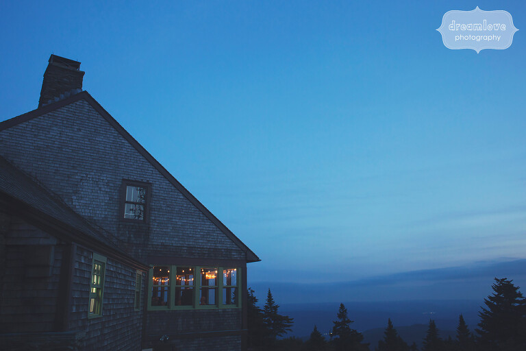 Magical wedding venue at the Bascom Lodge for this Berkshires mountain wedding.