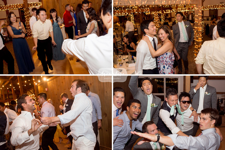 Hilarious guests dancing at the Inn on Main in Wolfeboro.