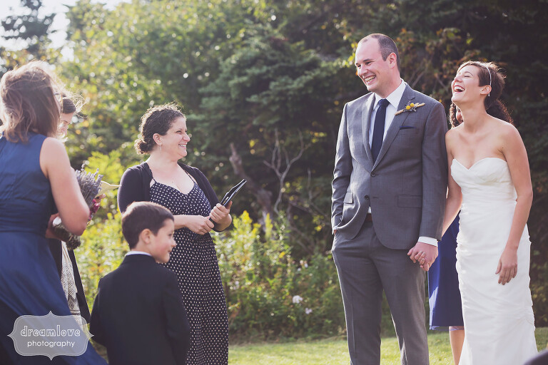 Candid wedding ceremony photos at the Bascom Lodge in the Berkshires, MA.