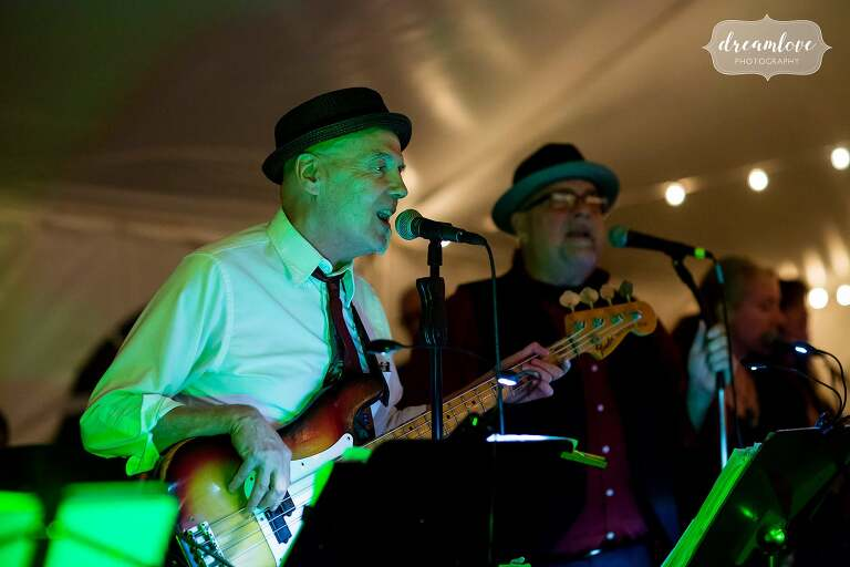 The Blues Reunion band plays during this Catskills wedding.