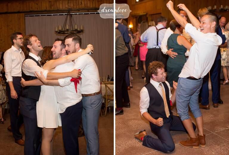 Sexy photos of the wedding guests at the Barn at Liberty Farms.