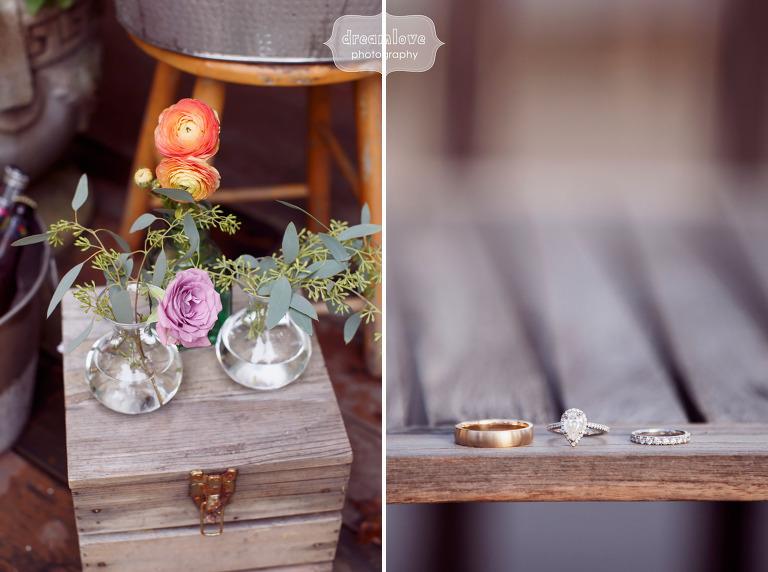 Anthropologie wedding decor ideas for a fall farm wedding in Quechee, VT.