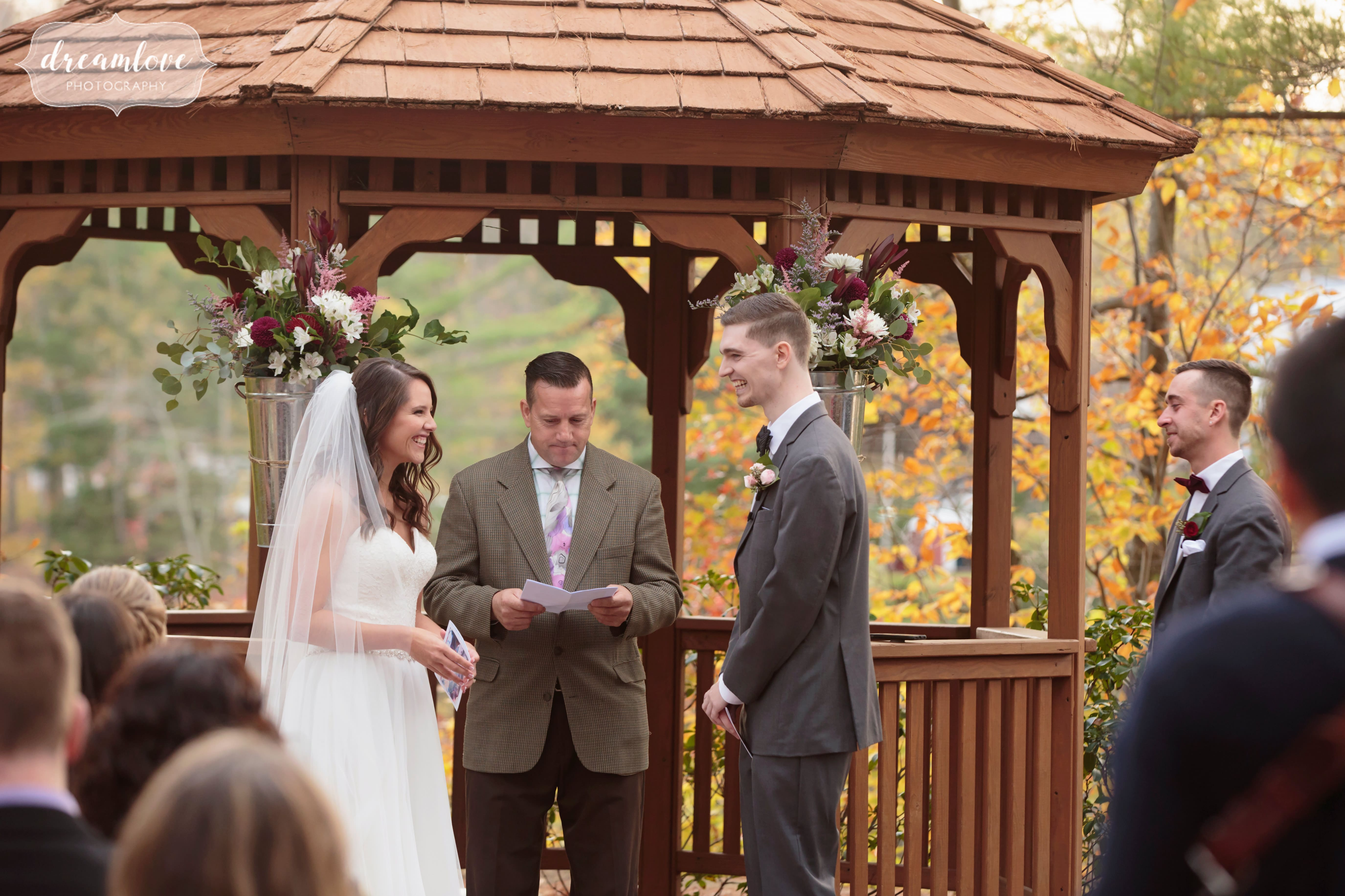 This fall outdoor wedding venue in CT is beautiful in November.