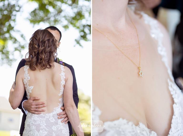 Star of David jewish necklace for Boston Harbor wedding.