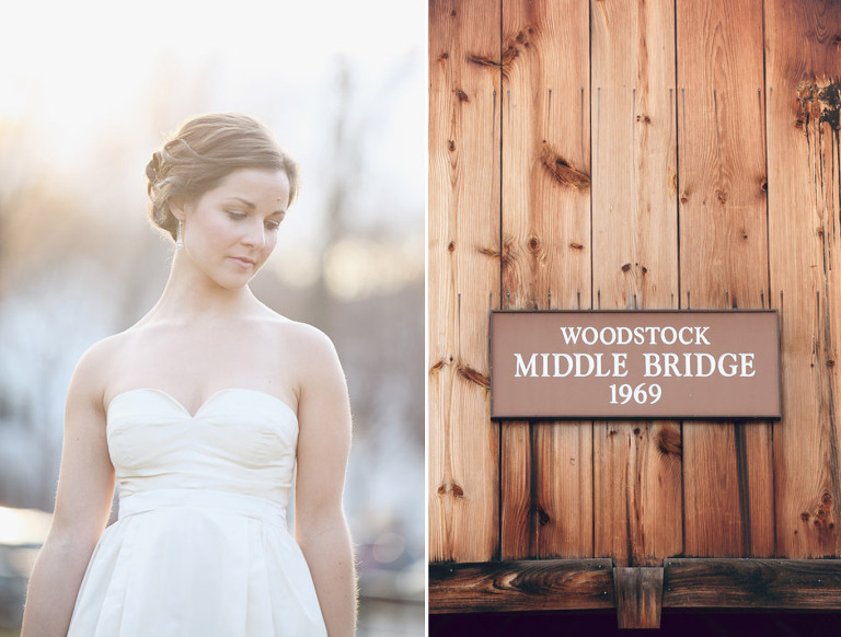Bright and sunny bridal portrait in Woodstock Vt.