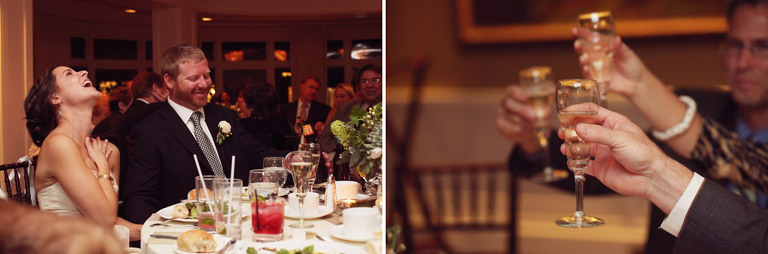 Funny wedding toasts at the Woodstock Inn.
