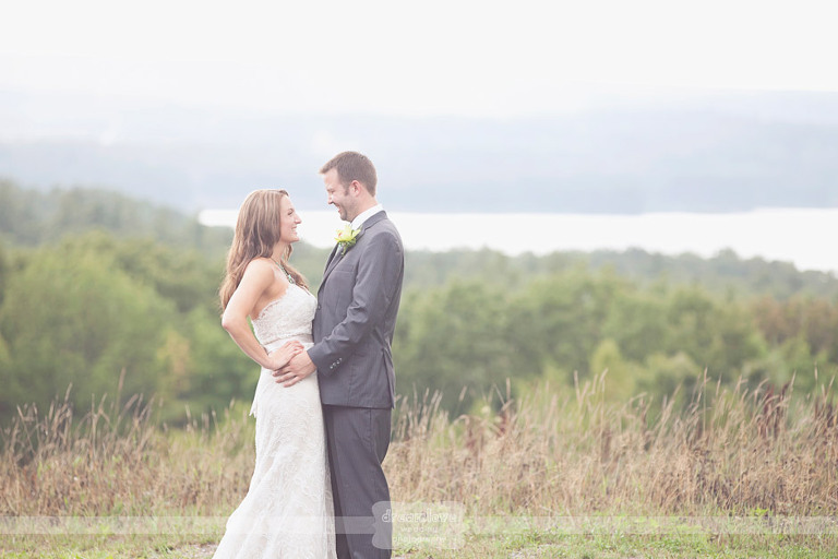 ethereal river with bride and groom outside at their tower hill botanic garden wedding