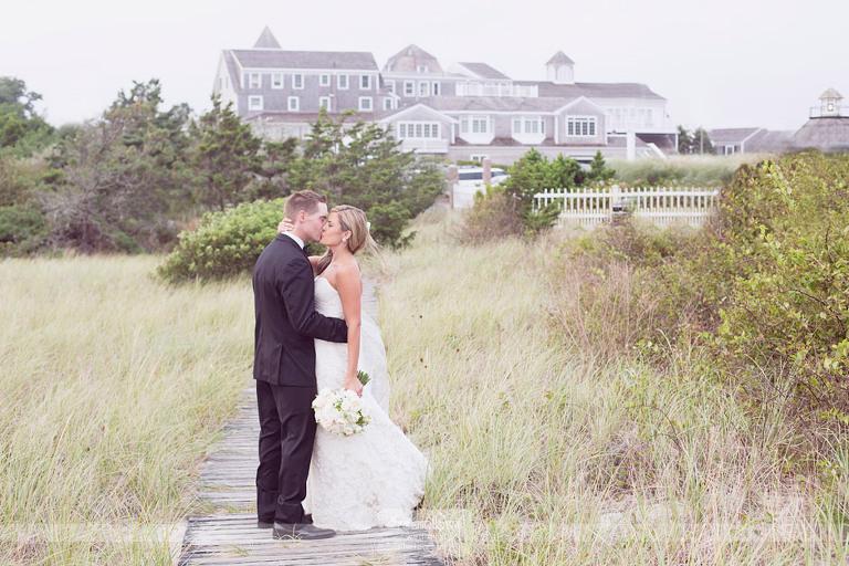 Wychmere wedding photos on the boardwalk outside of the Beach Club in Harwich, MA.