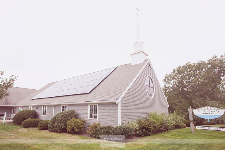 Exterior of St. Peter's Lutheran Church on Cape Cod.