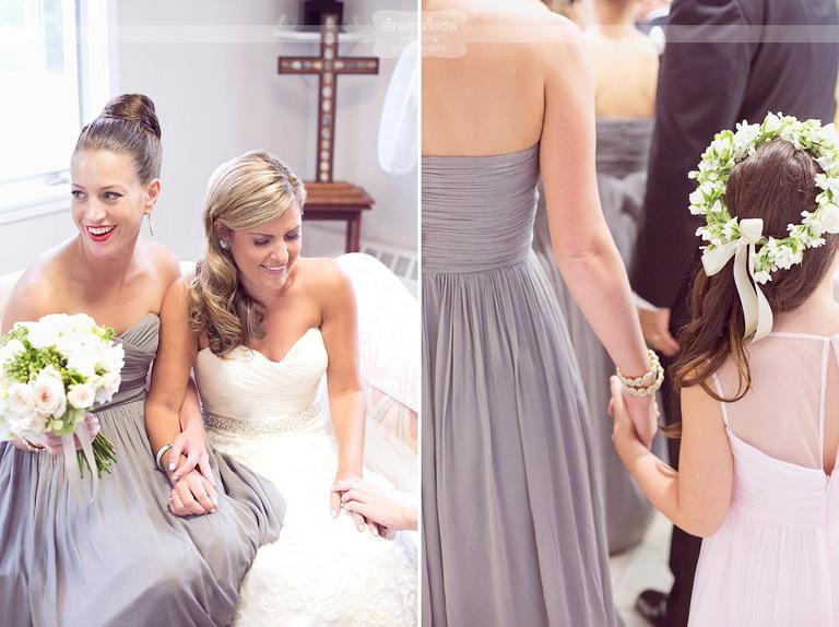 A bride and bridesmaids get ready of a Cape Cod wedding.