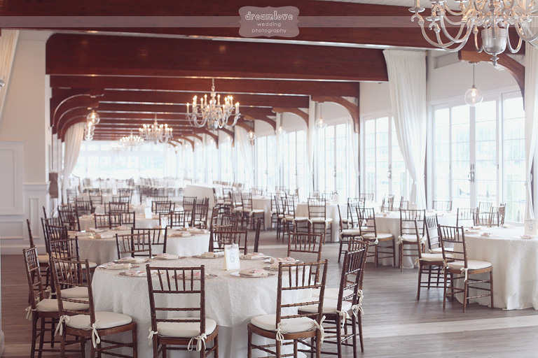 The reception space at the Wychmere Beach Club.