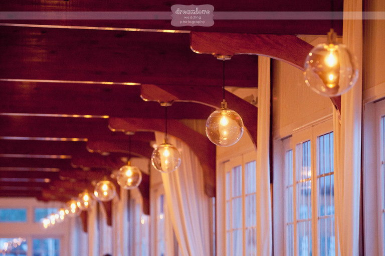 The natural lighting in the ballroom at the Wychmere Beach Club is stunning!