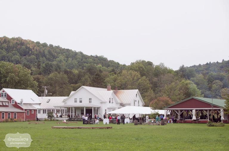 Fall wedding reception at the Lareau Farm Inn, Waitsfield, Vermont.