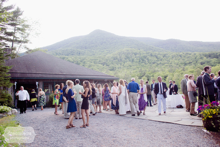 Wedding rehearsal dinner photography at the Equinox Pond Pavilion in VT.