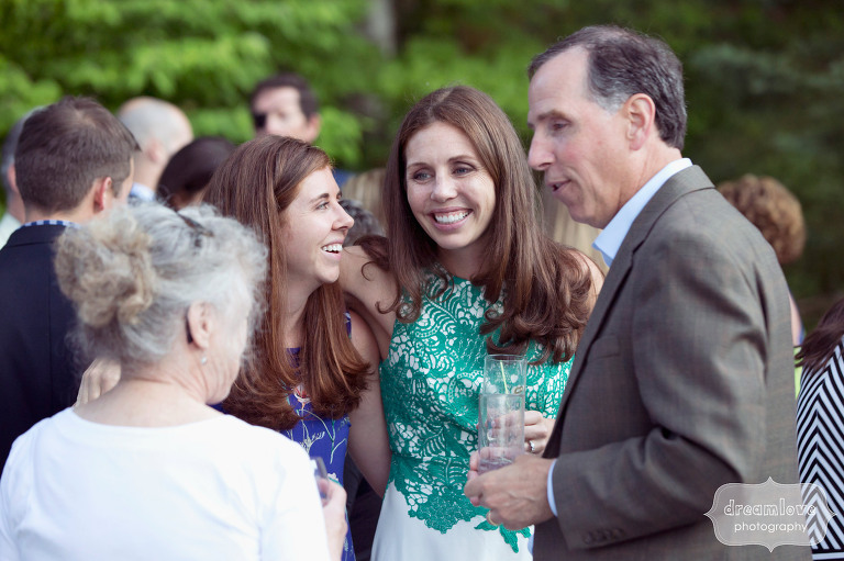 Candid rehearsal dinner photography at the Equinox Pond Pavilion in VT.