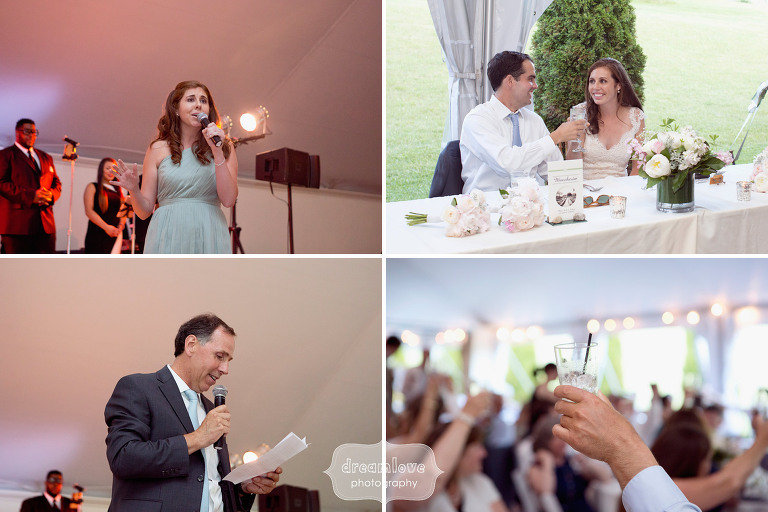 Candid moments during the speeches at the Hildene in VT.