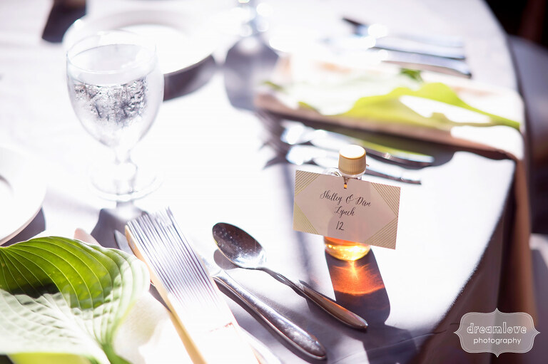 Fine art photography of wedding dinner tables at Sugarbush, VT.