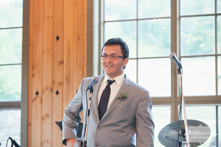 Speech by the groom's son at the Sugarbush, VT reception.