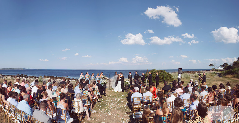 View of outdoor ceremony space at the Seacoast Science Center in NH.