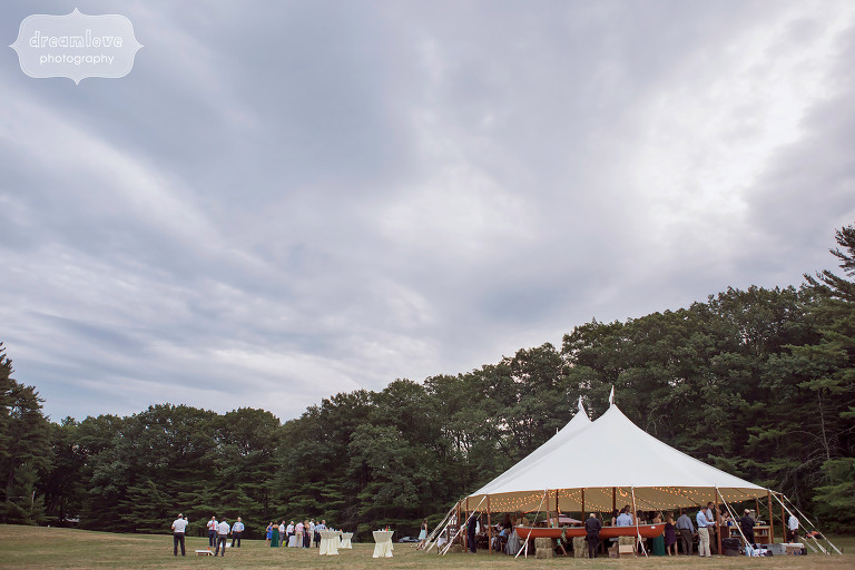 Reception tent at the Woodbound Inn in NH.