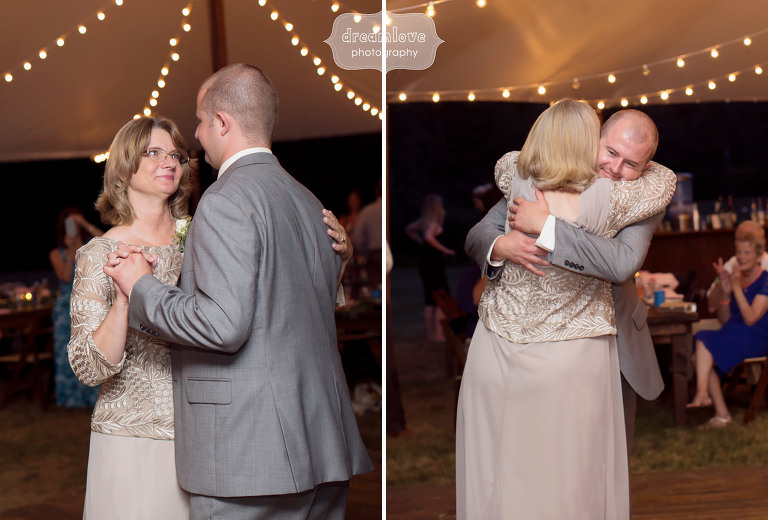 Mother and son dance at the Woodbound Inn in NH.