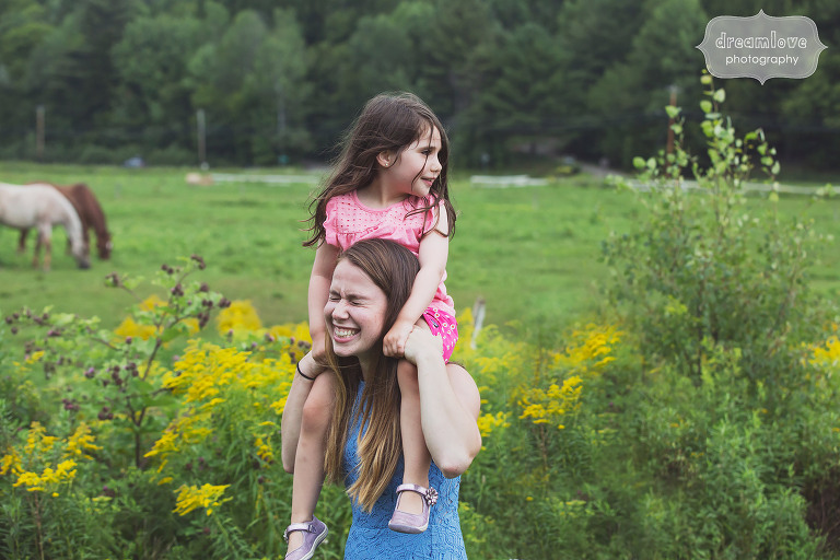 Cute photo of kids at this Stowe, VT wedding.