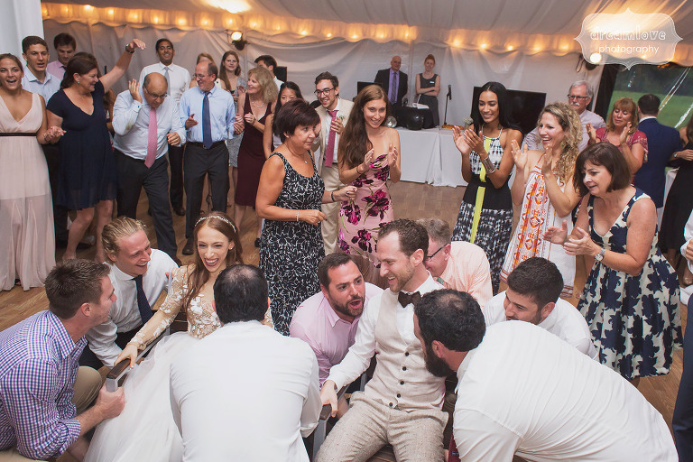 Guests dancing at the Topnotch Resort in Stowe, VT.