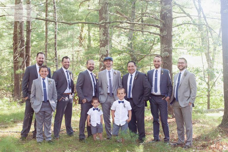 Dapper groomsmen at this rustic Cape Cod wedding in MA