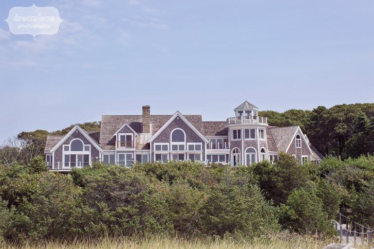 Great Island mansion on Cape Cod for beach wedding.