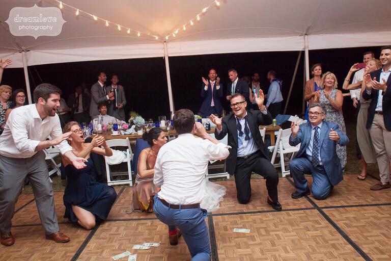 Greek wedding Zeibekiko dance at Cape Cod.
