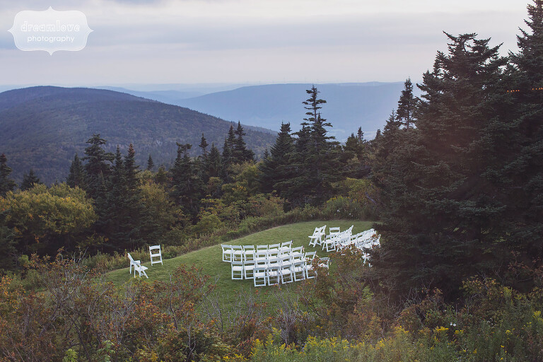 Mountain wedding ceremony in western MA.