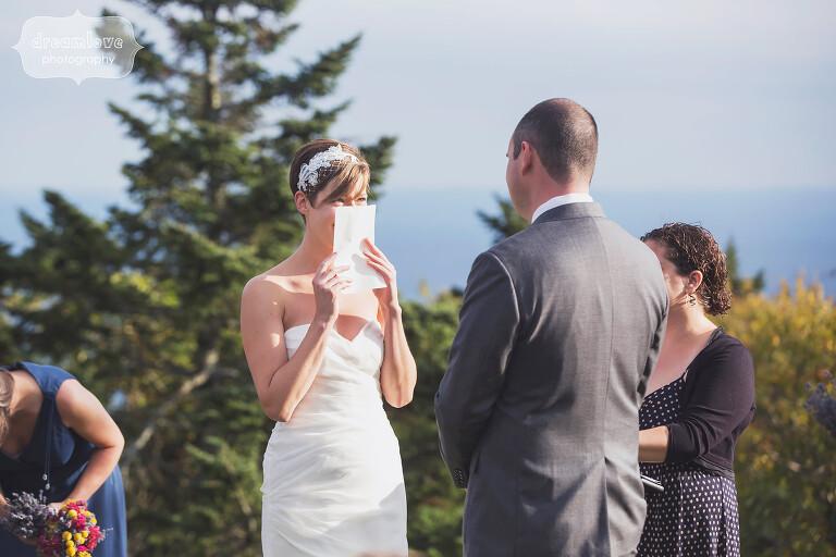 Documentary wedding photo of bride and groom in Western MA.