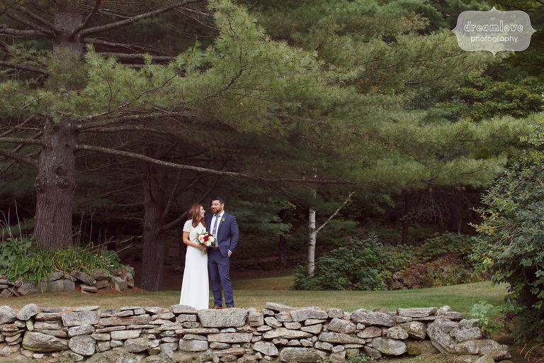 Anthropologie style wedding in Quechee, VT at the Curtis Hollow Farm.