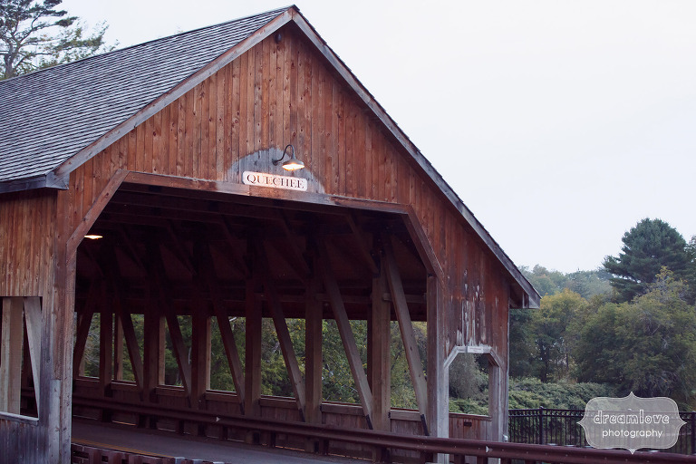 Historic covered bridge in Quechee, VT for a rustic wedding.