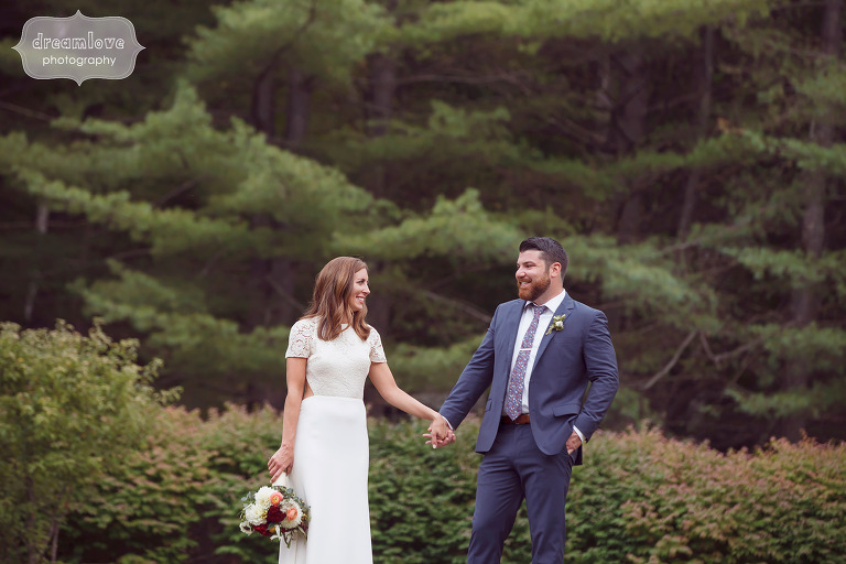 Bride and groom fine art photography at the Curtis Hollow Farm in VT.