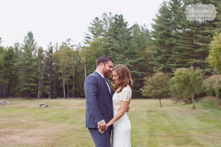Fine art wedding photography of bride and groom at this Quechee VT Wedding at the Curtis Hollow Farm.