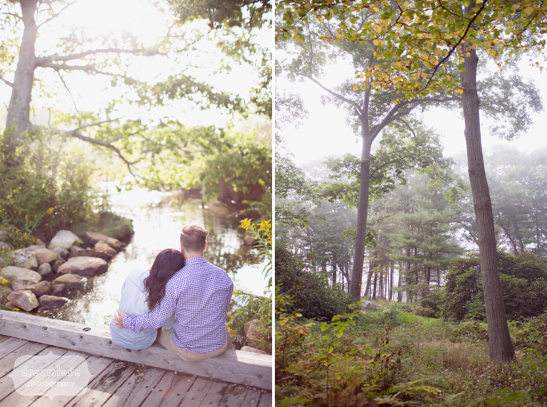 Anthropologie style engagement photos in Gloucester, MA.
