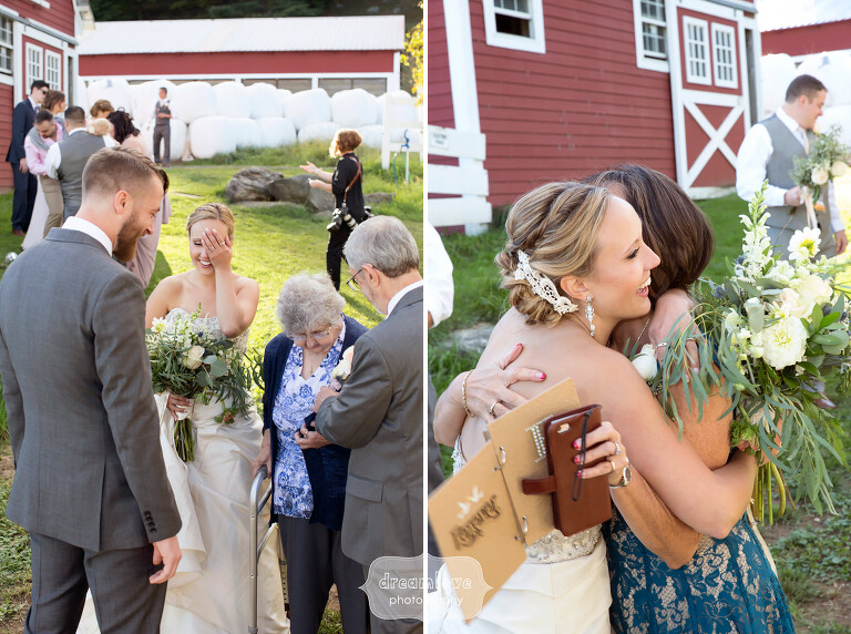 Documentary wedding photos of family and guests at this Berkshires wedding.