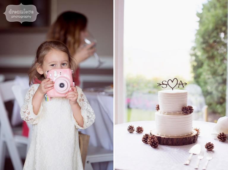 Instapix wedding camera for guests at NH wedding.