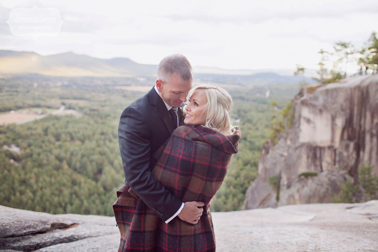 Autumn wedding in September at Cathedral Ledge in Conway, NH.