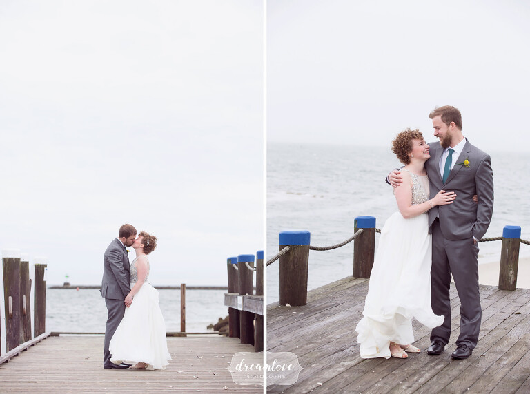 This bride and groom loved our style of simple wedding portraits outside in natural light before their Wychmere wedding.